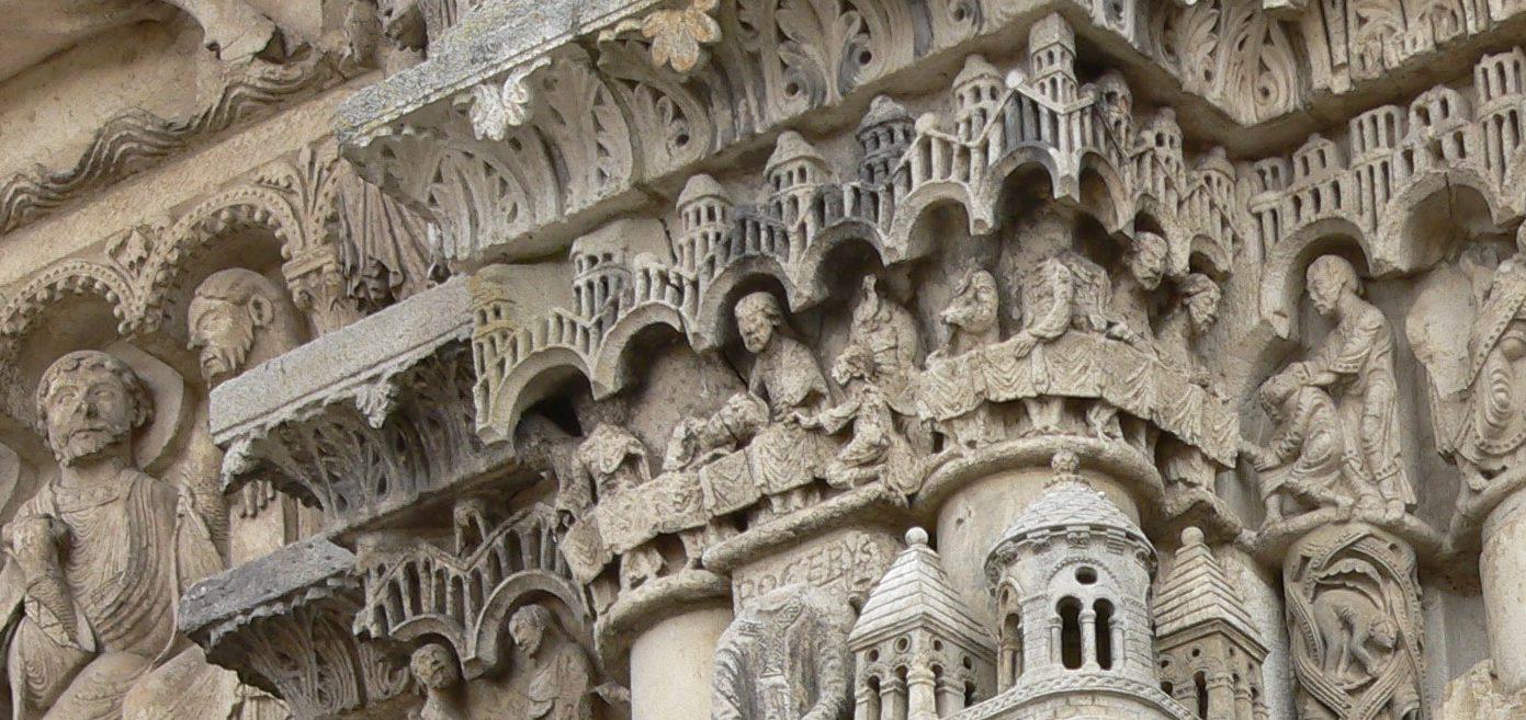 Portail Royal Cathédrale de Chartres - La Cène - Visite Chartres - En quête d'histoires